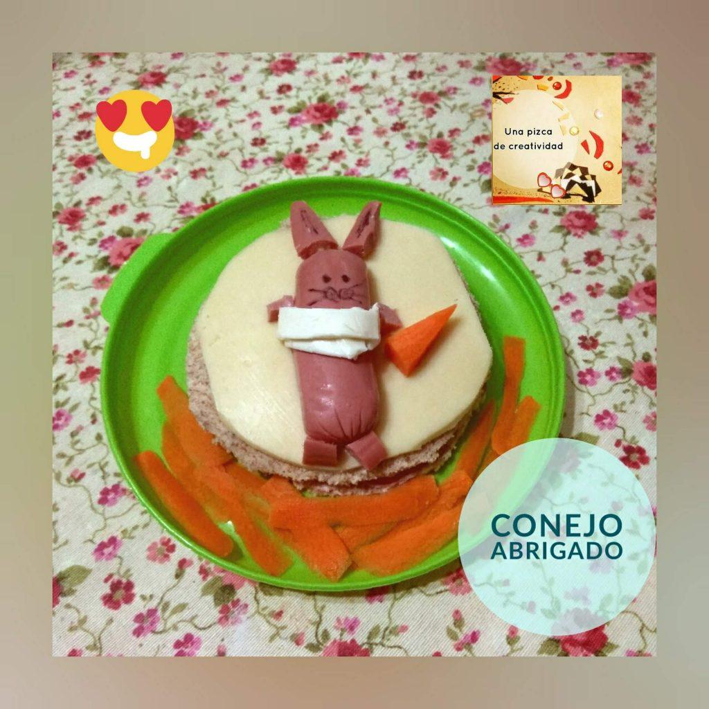 Conejoabrigado.comida creativa enero 2019