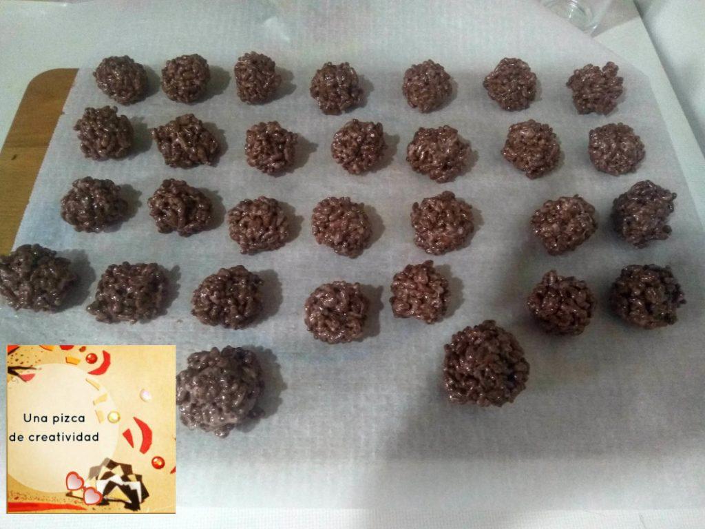 bolas arroz hinflado para tarta casera sistema solar
