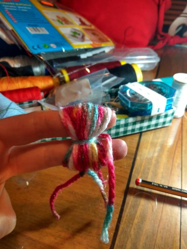 pon-pón lana de colores para pelo muñecas-iman